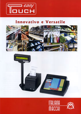 Brochure del registratore di cassa Easy Touch con controllo touch screen. 2012, Archivio d'impresa.
