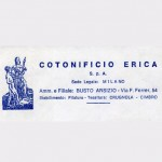 Carta intestata del Cotonificio Erica spa. Anni settanta, Archivio d'impresa.